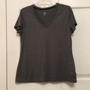 Champion C9 Large Heather Gray Polyester T-Shirt